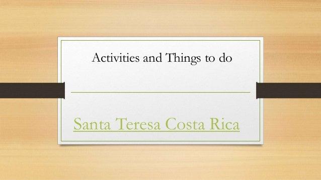 Santa Teresa Costa Rica Activities & Tour