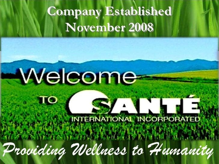 Sante Barley Presentation
