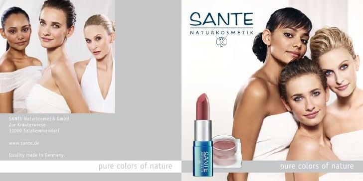 Sante Organic Cosmetics Brochure