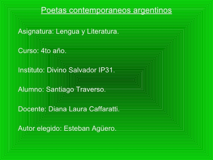 Poetas contemporáneos