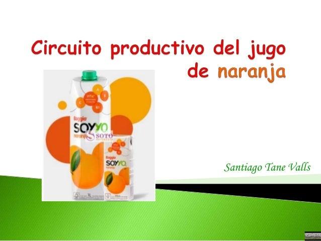 Circuito Productivo Del Tomate : Santi desafio circuito productivo de la naranja