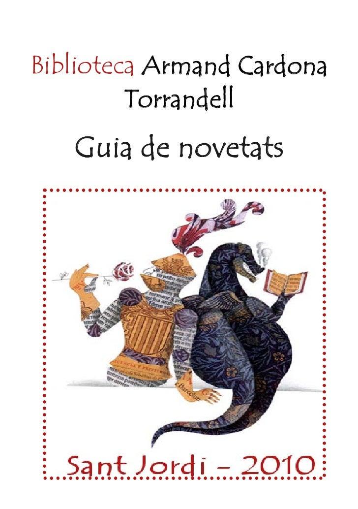 Biblioteca Armand Cardona          Torrandell    Guia de novetats