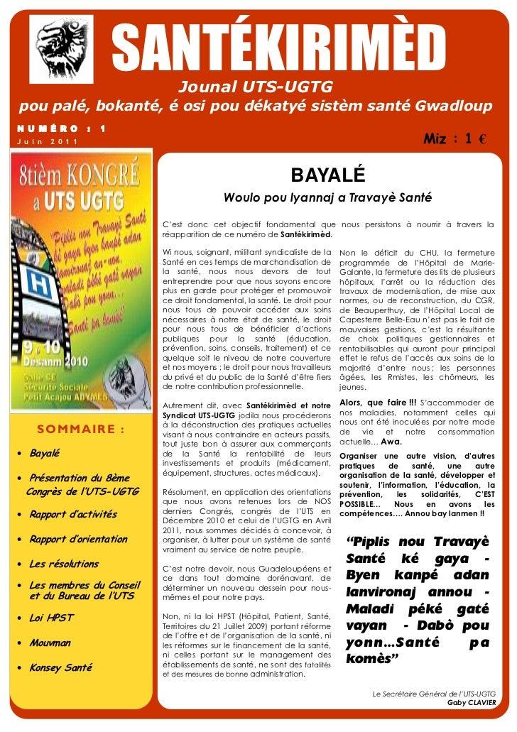 Santékirimèd - Numéro I - Juin 2011