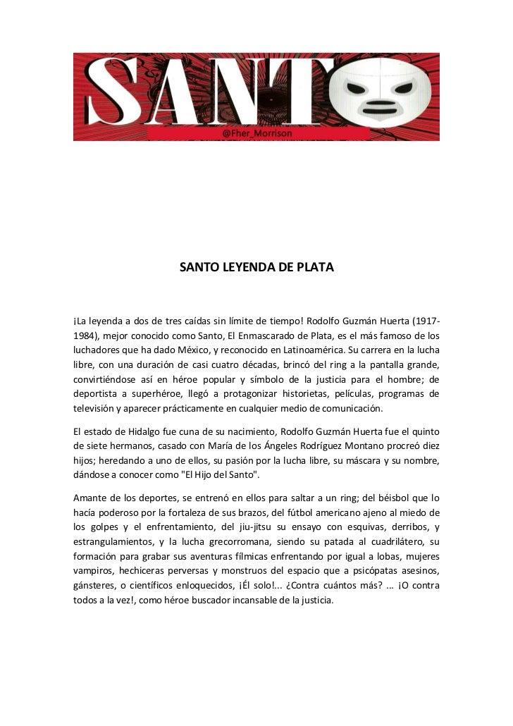 """Santo """"Leyenda de Plata"""""""