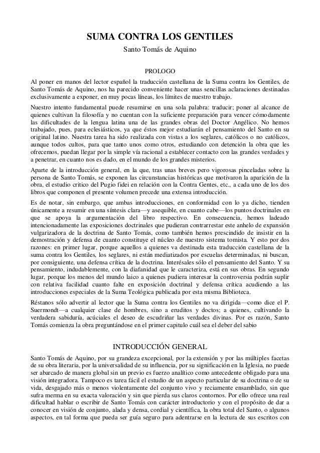SUMA CONTRA LOS GENTILES                                     Santo Tomás de Aquino                                        ...
