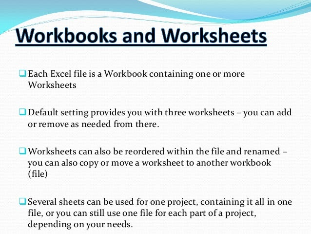 An Excel File That Contains One Or More Worksheets ...