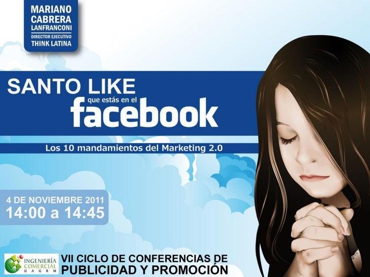"""Santo """"Like"""" que estás en el Facebook"""