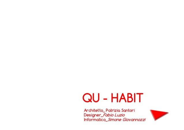 QU - HABIT Architetto_ Patrizia Santori Designer_Fabio Luzio Informatico_Simone Giovannozzi