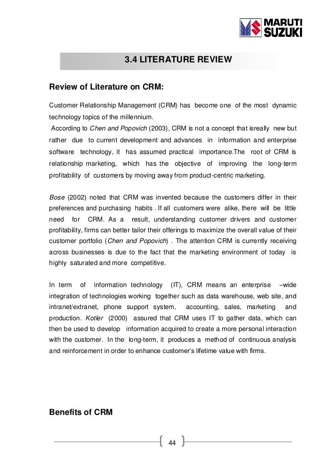 Mobile customer relationship management literature review
