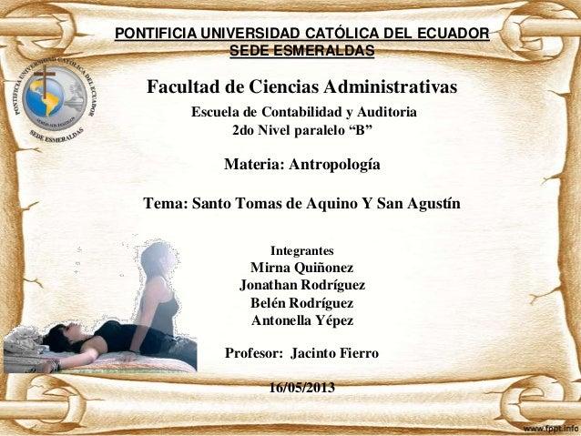 PONTIFICIA UNIVERSIDAD CATÓLICA DEL ECUADOR SEDE ESMERALDAS  Facultad de Ciencias Administrativas Escuela de Contabilidad ...