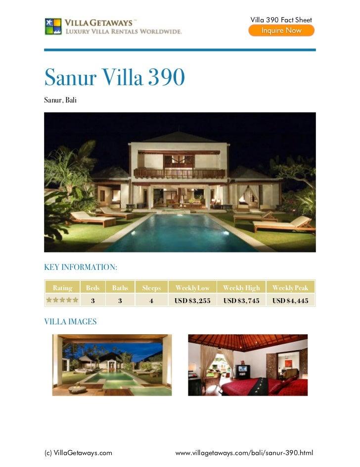 Sanur villa 390,bali