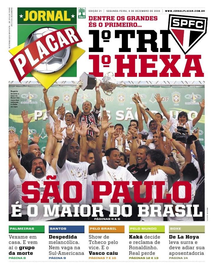 Sao Paulo Hexa Jornal Placar