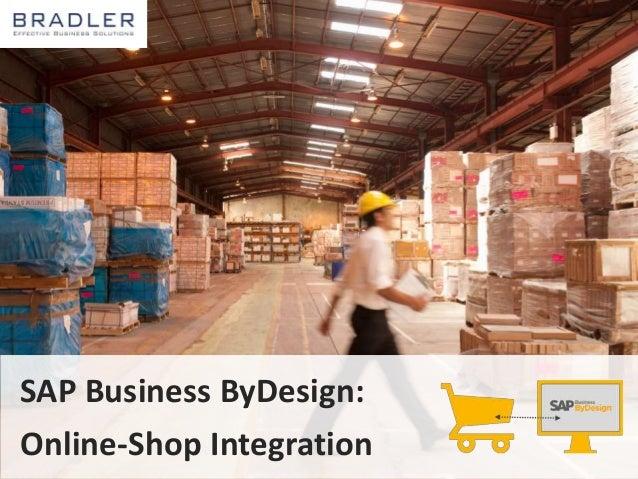 SAP Business ByDesign:  Online-Shop Integration