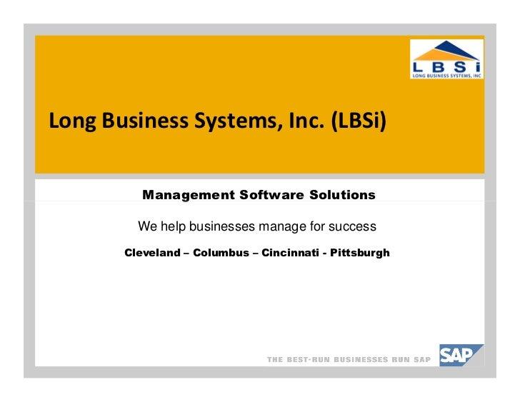 SAP Business One Forecasting