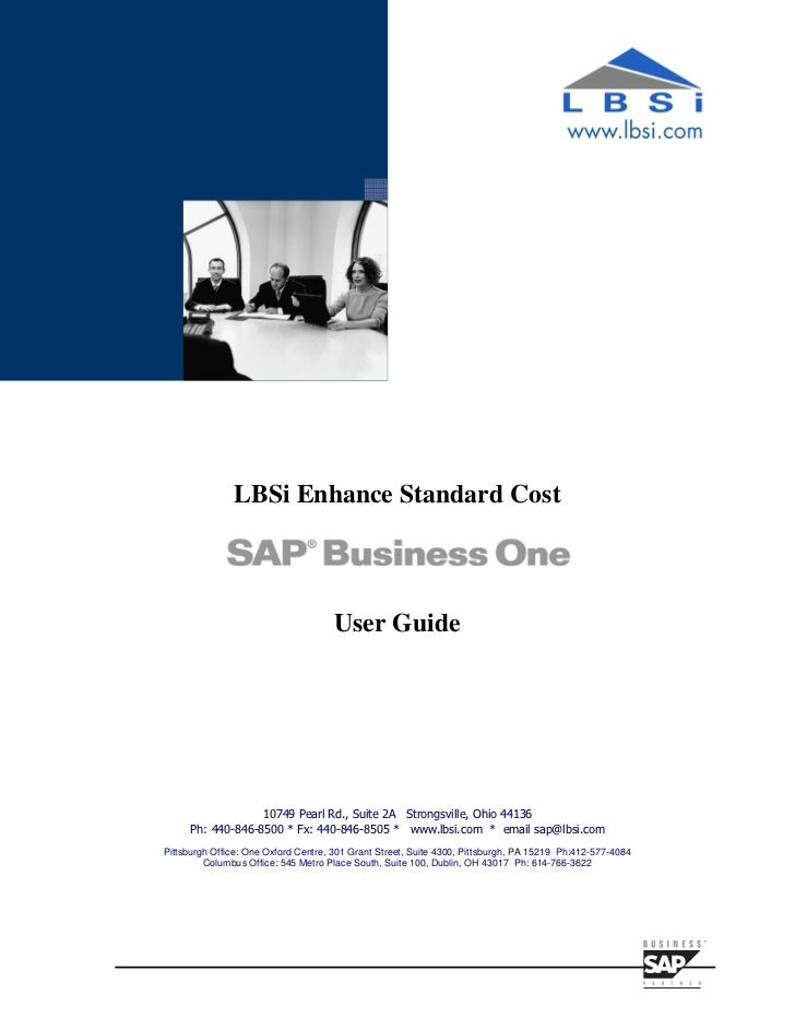 Sap business-one-standard-cost-roll-up-guide