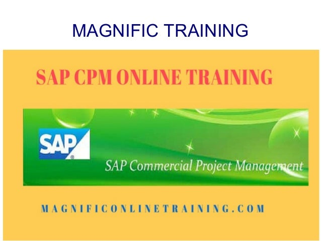 Sap Cpm Online Training Services In Uae Usa