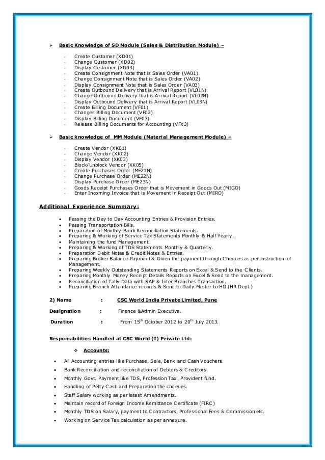 Sap grc security resume