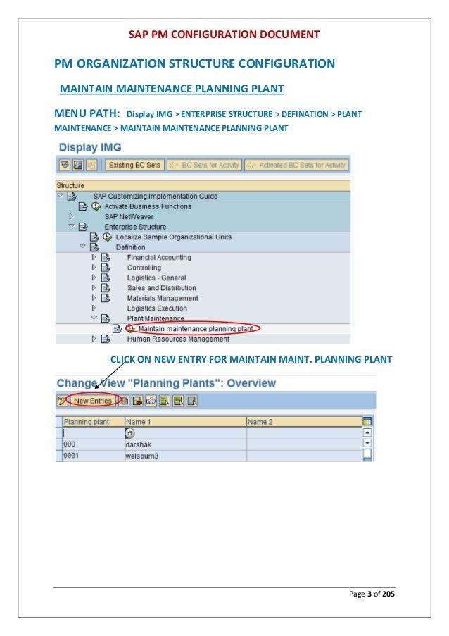 sap plant maintenance configuration manual