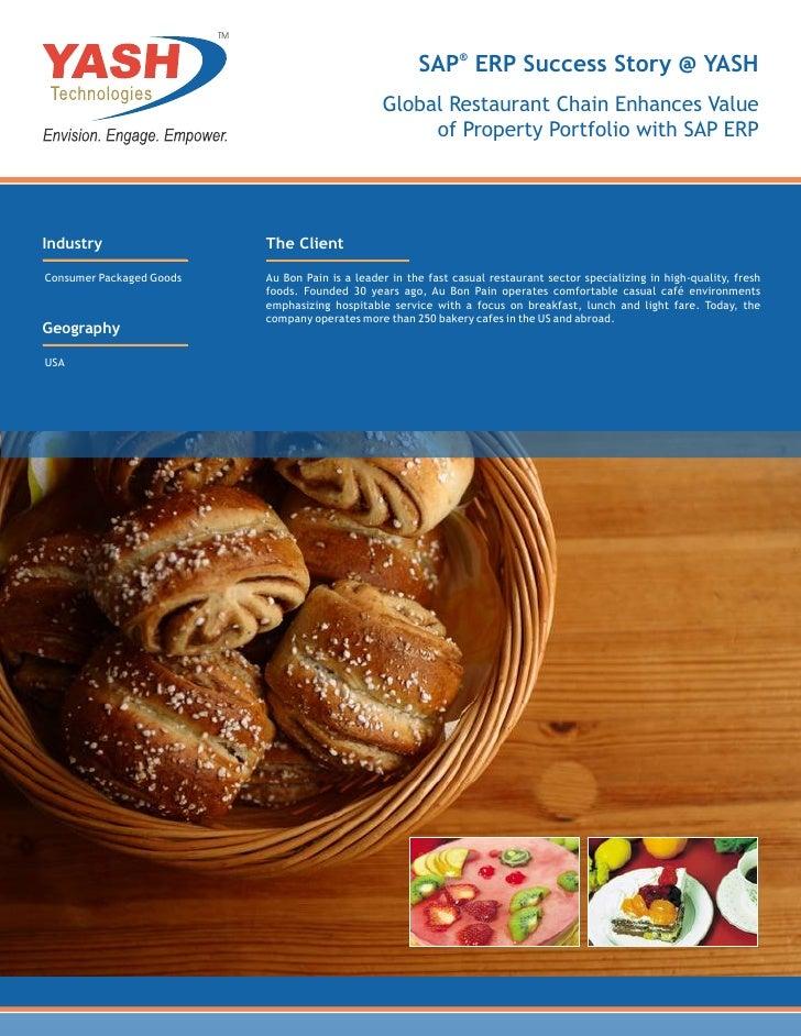 Global Restaurant Chain Enhances Value of Property Portfolio with SAP ERP