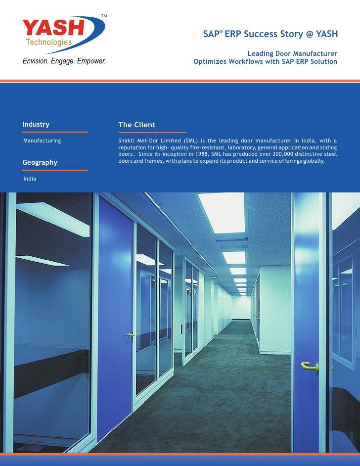 TM                                                       SAP® ERP Success Story @ YASH                                    ...