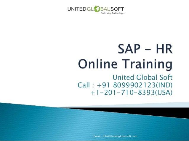 Sap hr online training in India