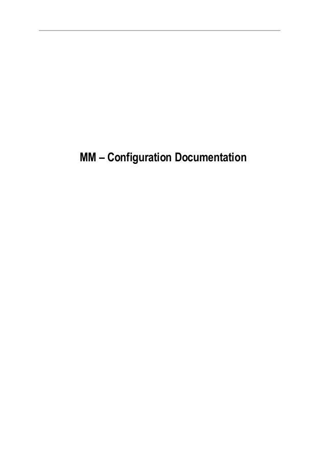SAP MM Config Guide