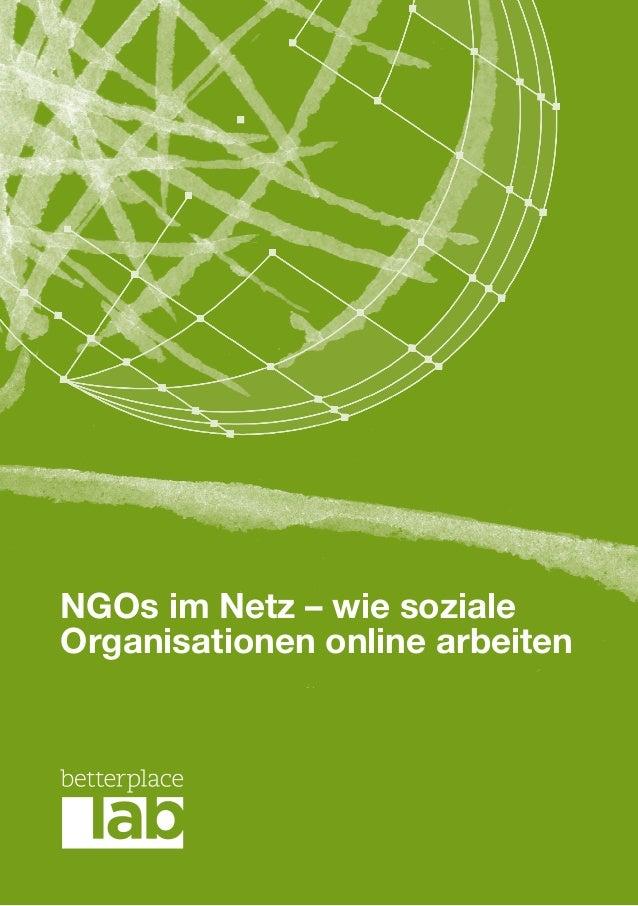 NGOs im Netz – wie sozialeOrganisationen online arbeiten