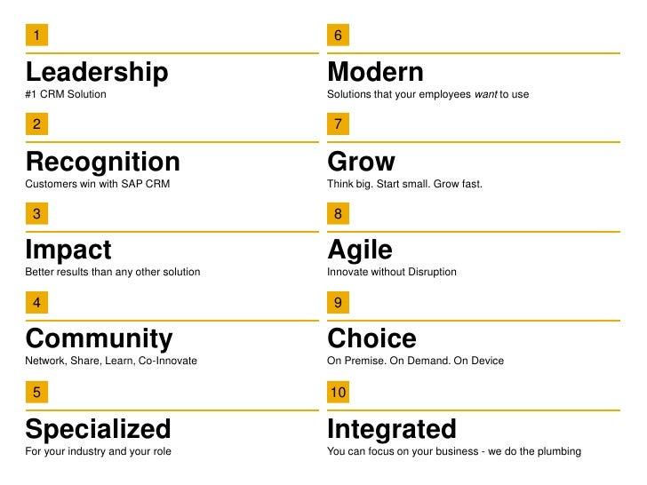 SAP TOP TEN CRM 2013