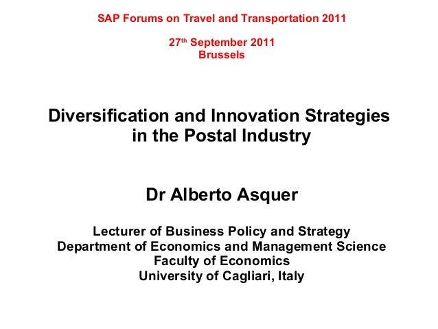 SAP Forums on Travel and Transportation 2011                  27th September 2011                        BrusselsDiversifi...