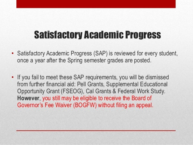 Does the Satisfactory Academic Progress back date?