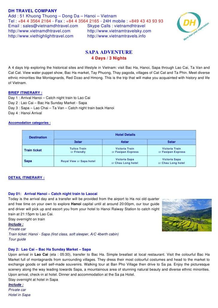 Sapa Adventure 4days   3nights