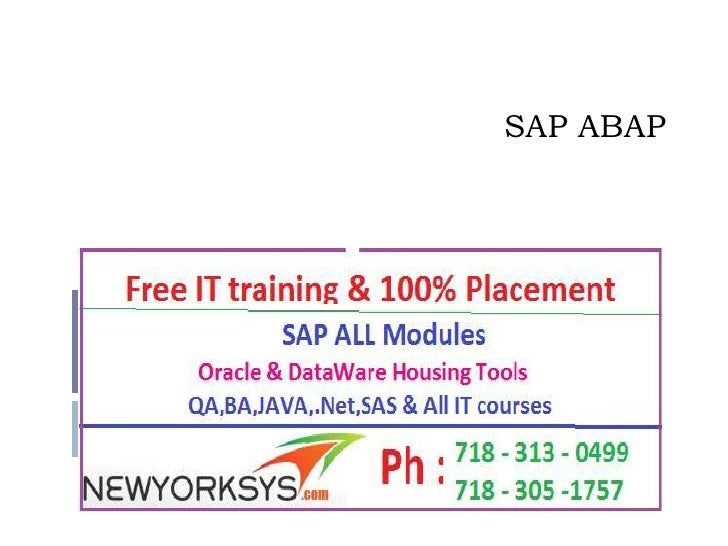 SAP ABAP Online Training with Placement Assistance