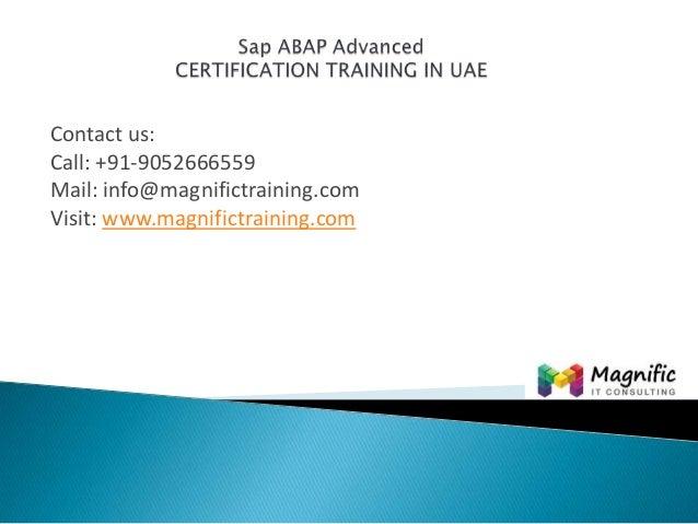 Sap abap advanced certification training in uae@magnifictraining.com