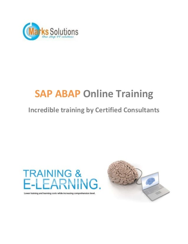 SAP ABAP Online Training Incredible training by Certified Consultants