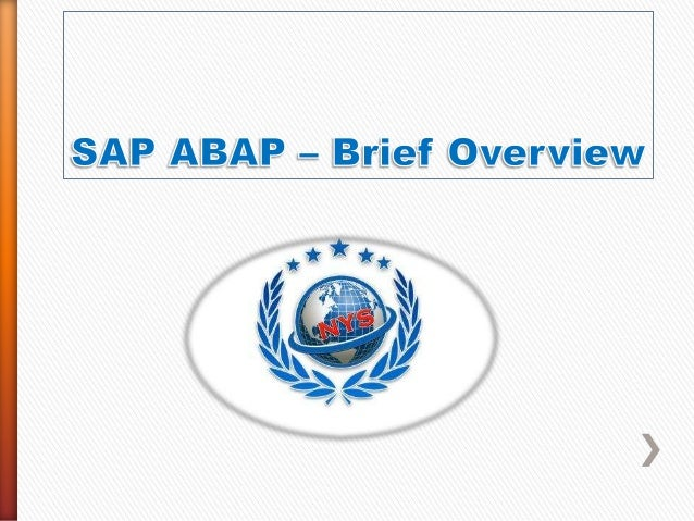Sap abap online training and job support