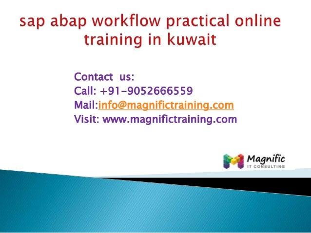 Sap abap workflow practical online training in kuwait