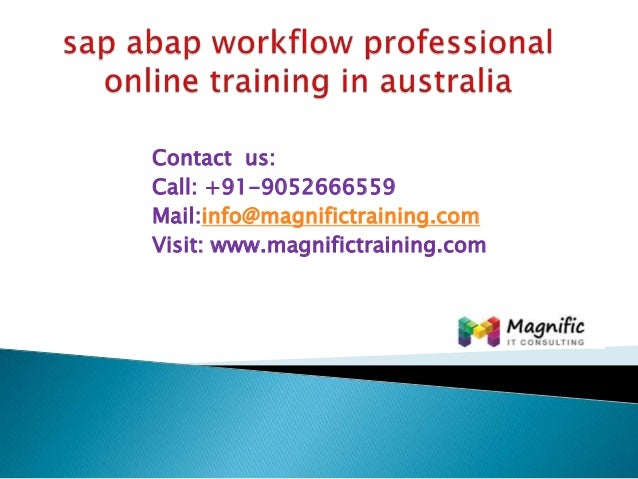 Sap abap workflow professional online training in australia