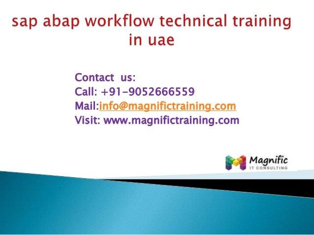 Sap abap workflow technical training in uae