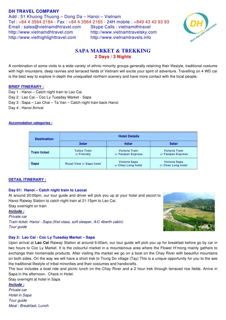 Sapa Market & Trekking 4 Days   3 Nights