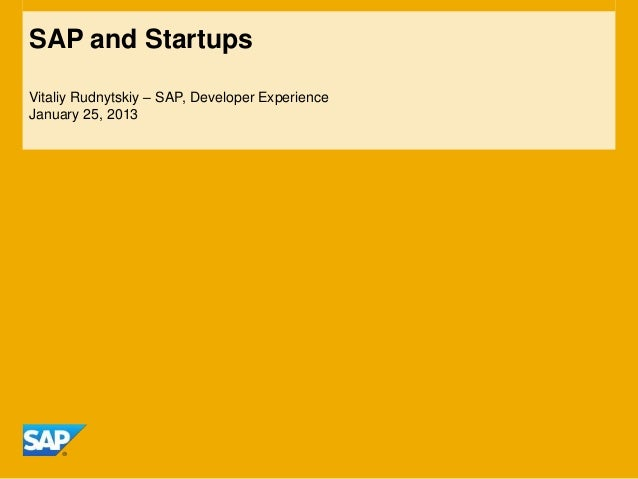 SAP and Startup Intro