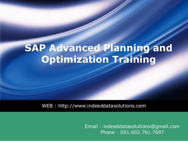 SAP APO Training | SAP APO Online Training | SAP APO Course