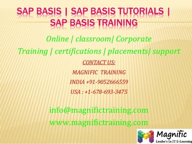 Sap basis  sap basis tutorials  sap basis training