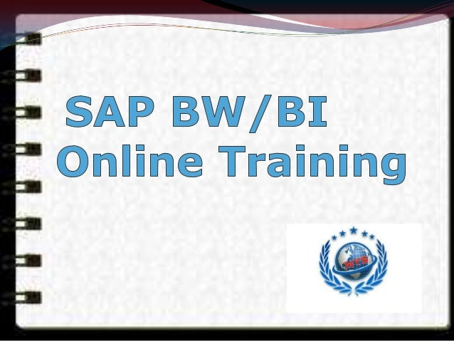 SAP Netweaver Business Warehouse (SAP NetWeaver BW) is better known as Business Intelligence or BI The term BW is used to ...