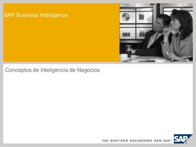 SAP Business Intelligence  Conceptos de Inteligencia de Negocios