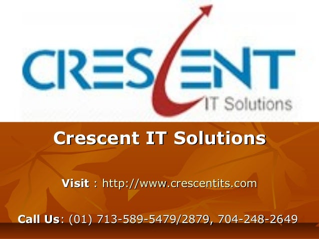 Sap BO Online Training and Placement Support @ Crescent IT Solutions