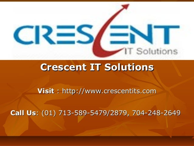 SAP BPC Online Training and Placement Support @ Crescent IT Solutions