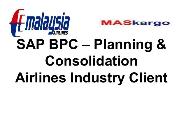 Sap Bpc Airlines Industry