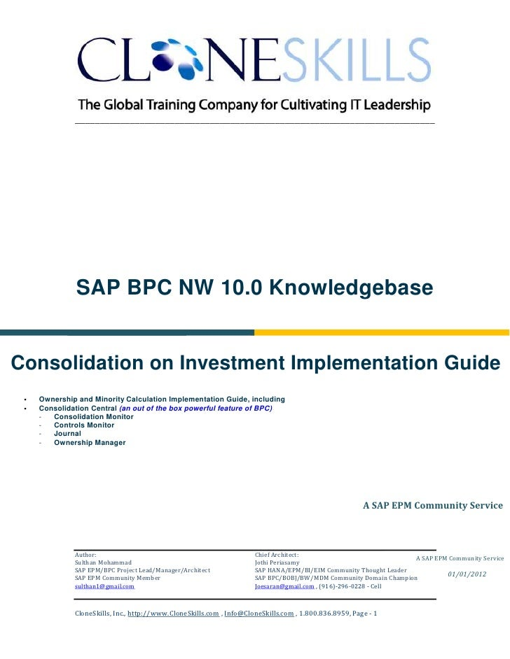 ________________________________________________________________________              SAP BPC NW 10.0 KnowledgebaseConsoli...