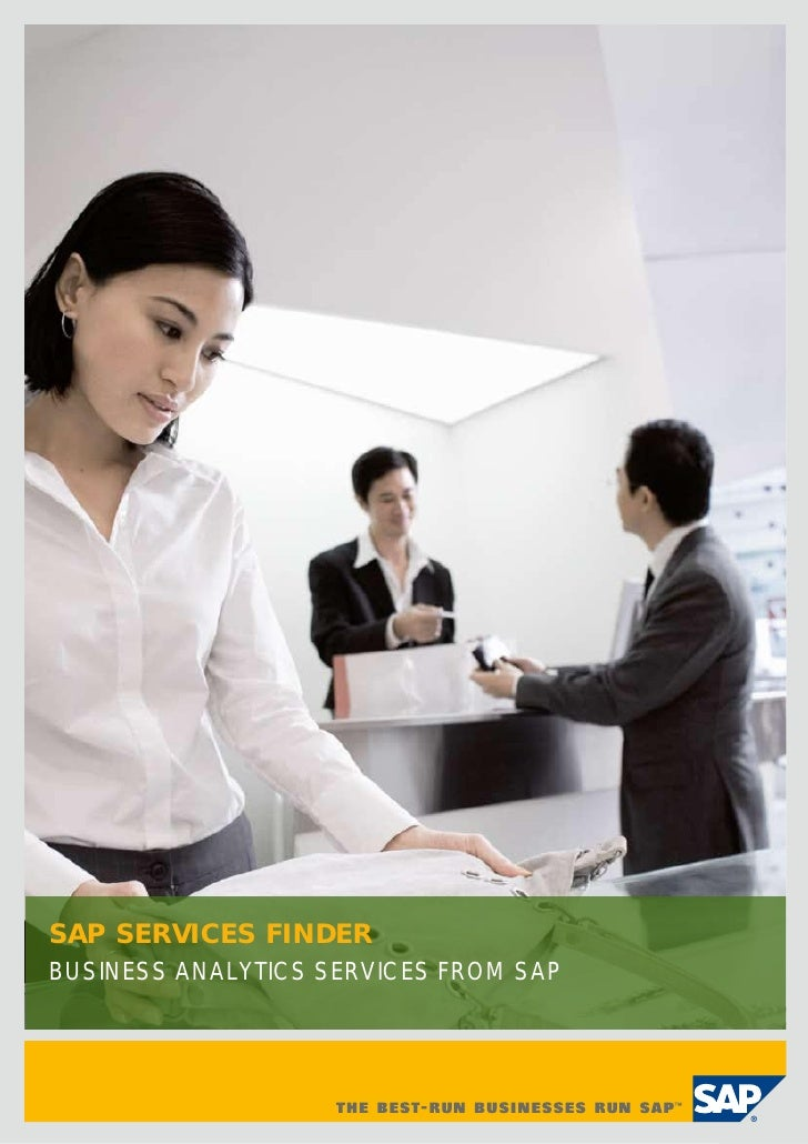 SAP SERVICES FINDERBUSINESS ANALYTICS SERVICES FROM SAP