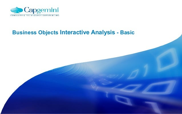 Business Objects Interactive Analysis - Basic